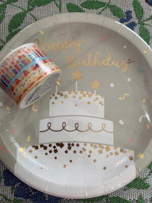 紙皿&マスキングテープ